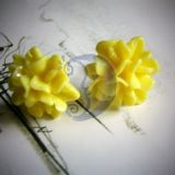 Auskarai Gėlytės banana yellow