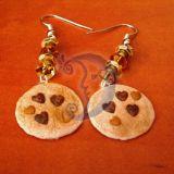 Auskarai Chocolate heart chip cookies