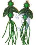 Žalieji vynuogės auskarai
