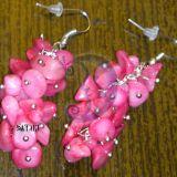 Pink auskarai