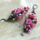 Rožių auskarai.