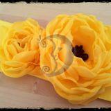 Juosta suknelei su prisegamom gėlėm
