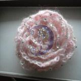 Rožė su rytinės rasos lašeliais
